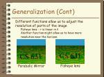 generalization cont