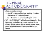 the final autobiography1