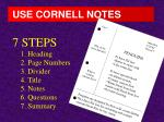 use cornell notes