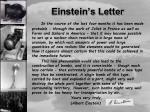 einstein s letter