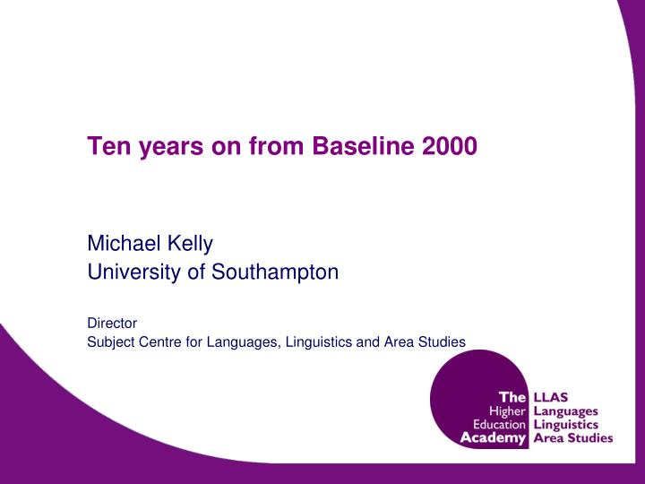 ten years on from baseline 2000 n.