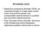 anxieties cont