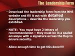 the leadership form