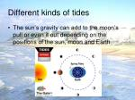 different kinds of tides