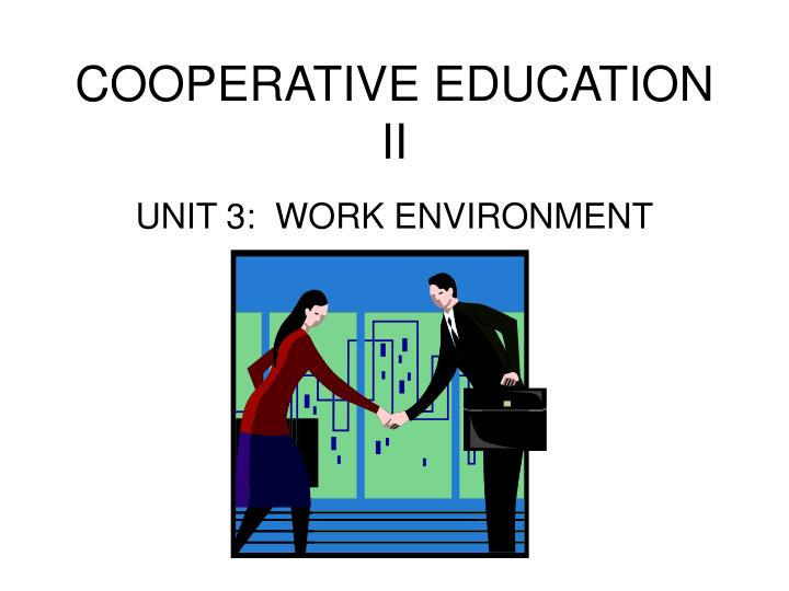 cooperative education ii n.