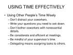 using time effectively12