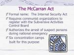 the mccarran act