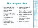 tips to a great plate