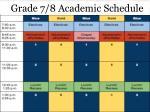grade 7 8 academic schedule