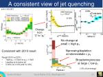 a consistent view of jet quenching