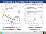 building a quarkonium thermometer