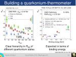 building a quarkonium thermometer