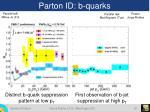 parton id b quarks