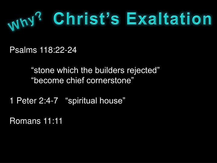 Christ's Exaltation