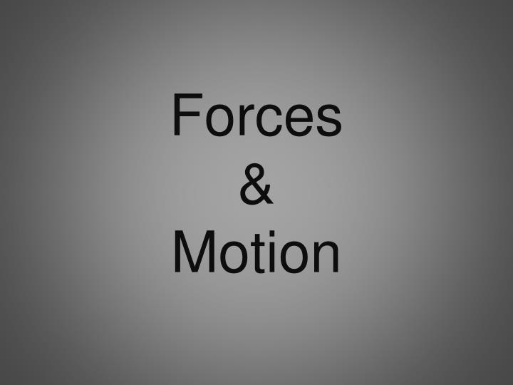 forces motion n.