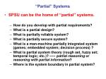 partial systems