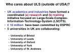 who cares about uls outside of usa