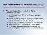 rural financial inclusion what does it look like 1