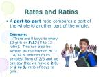 rates and ratios