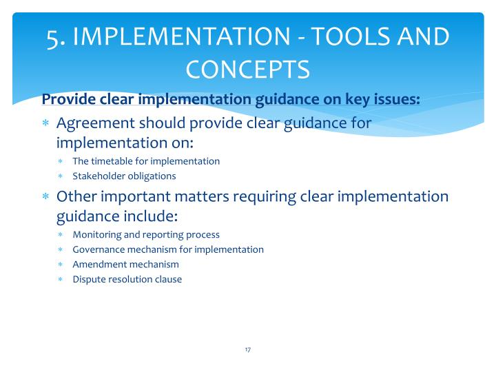 5. IMPLEMENTATION - TOOLS AND CONCEPTS