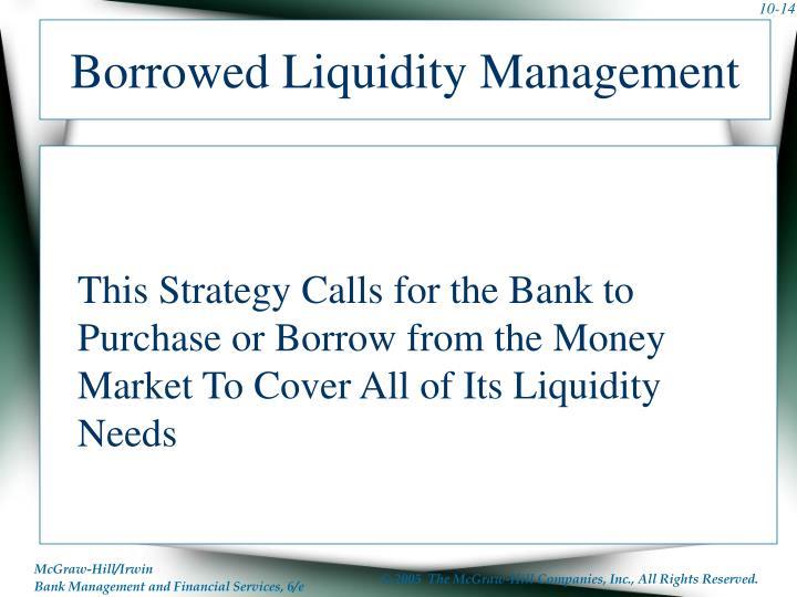 Borrowed Liquidity Management