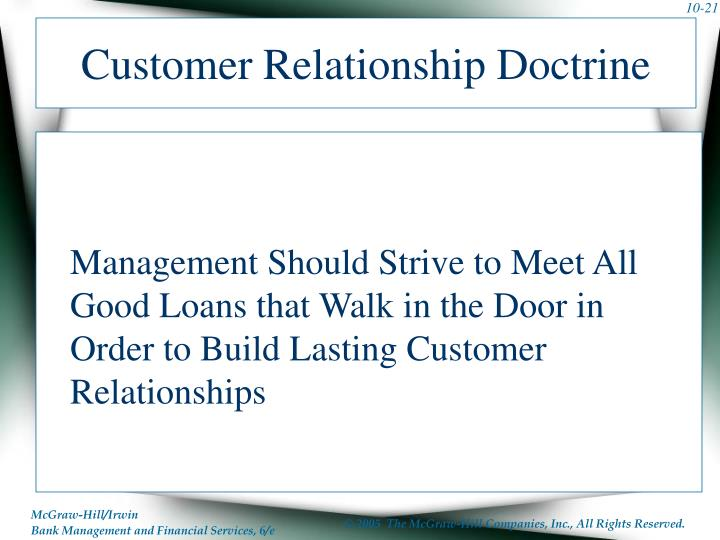 Customer Relationship Doctrine