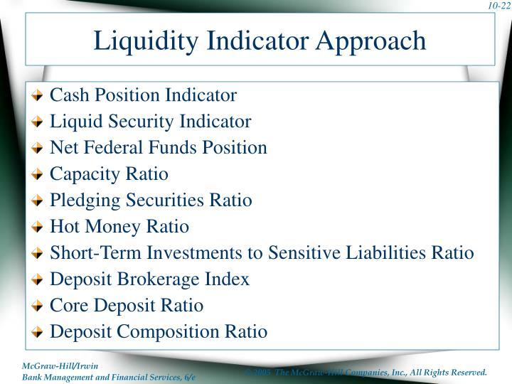 Liquidity Indicator Approach