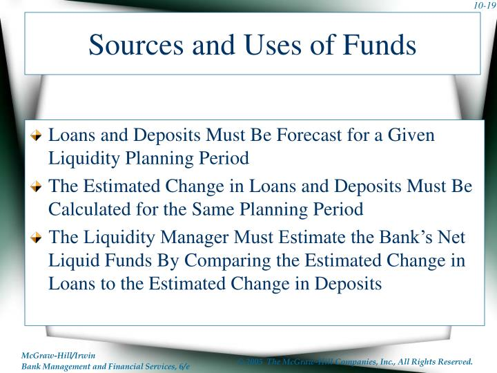 Sources and Uses of Funds