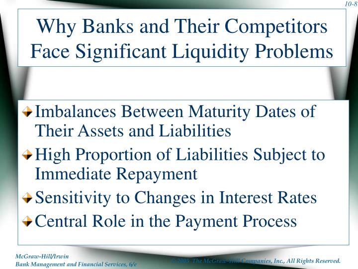 Why Banks and Their Competitors Face Significant Liquidity Problems