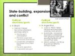 state building expansion and conflict1