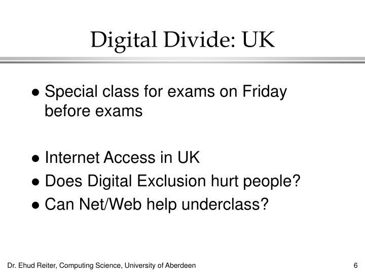 Digital Divide: UK