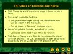 the cities of tanzania and kenya
