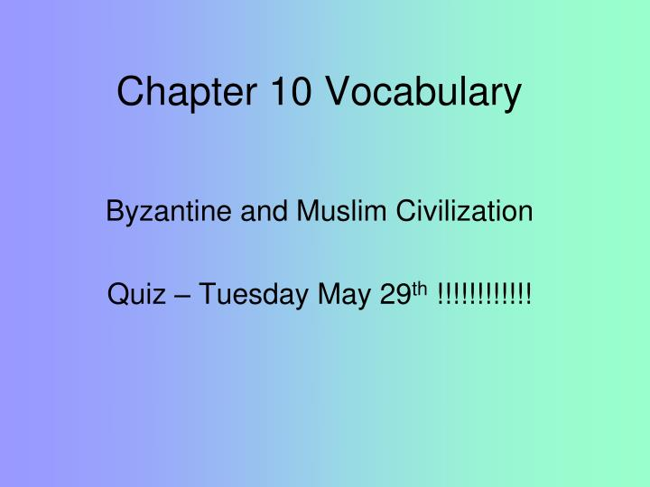 chapter 10 vocabulary n.