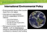 international environmental policy