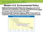 modern u s environmental policy