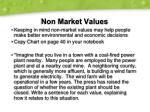 non market values