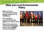 state and local environmental policy