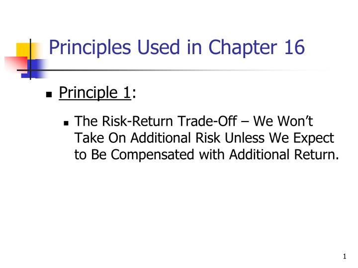 principles used in chapter 16 n.
