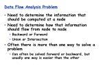data flow analysis problem