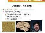 deeper thinking