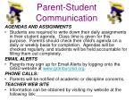 parent student communication