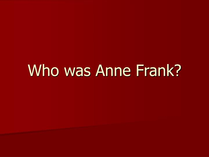 who was anne frank n.