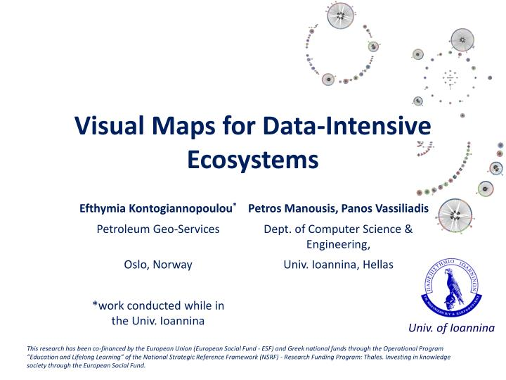 visual maps for data intensive ecosystems n.
