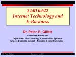 22 010 622 internet technology and e business