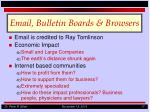 email bulletin boards browsers