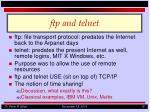 ftp and telnet