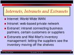 internets intranets and extranets