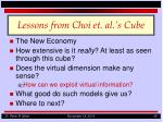 lessons from choi et al s cube