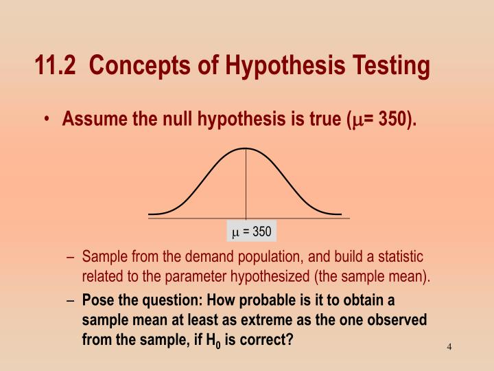 11.2  Concepts of Hypothesis Testing