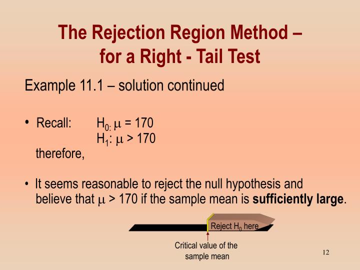 The Rejection Region Method –